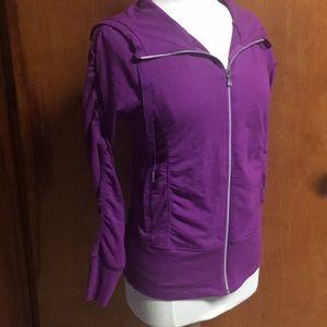 Champion Magenta Workout Jacket Cotton Hoodie Med